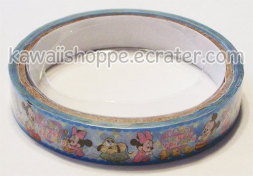 "Disney Mickey & Minnie Mouse Deco Tape Blue ""Baby Mickey Friends"""