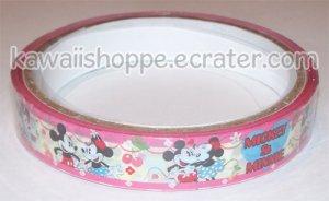 Disney Mickey & Minnie Mouse Deco Tape #7 Pink & White w/ Cherries