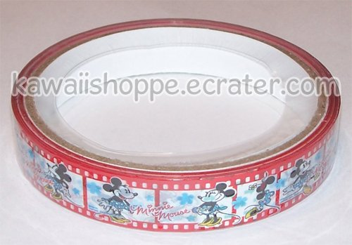 Disney Minnie Mouse Deco Tape #9 Red Filmstrip