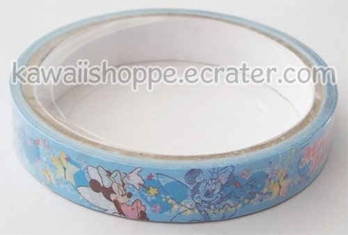 Disney Minnie Mouse Deco Tape #10 *Fairy* Blue w/ Stars