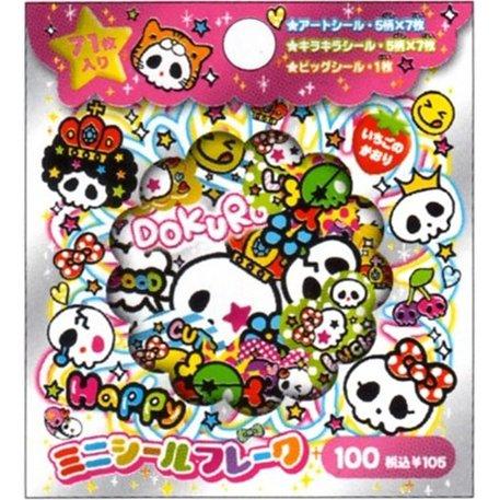 CRUX I Heart Dokuro Skull Sticker Sack - Stickers Sacks Kawaii Skulls