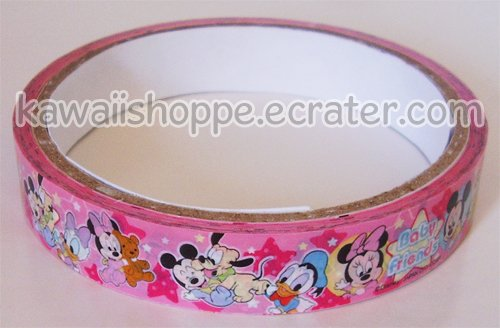 "Disney Mickey & Minnie Mouse Deco Tape #5 Pink ""Baby Friends"""
