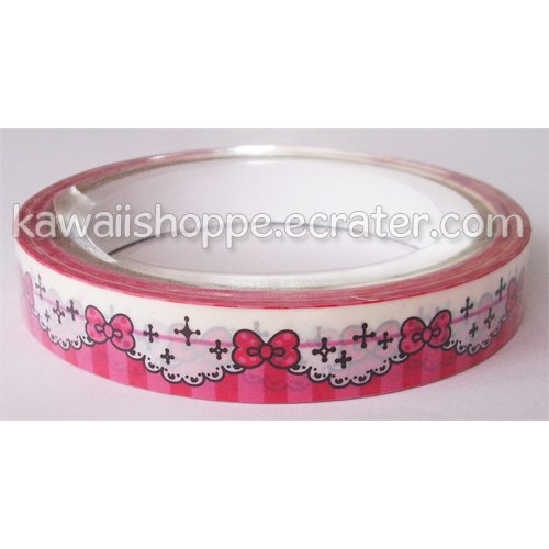 Pool Cool *Lacy Bows & Ribbons* Deco Tape - Kawaii Lace Stars Sparkle