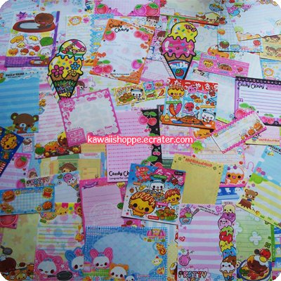 Kawaii Grabbie 100pcs Various Stationery Memo Sheets (no repeats) No. 1