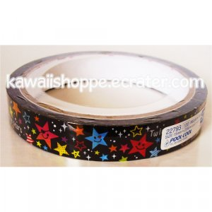 Pool Cool Twinkle Stars Smile Deco Tape - Kawaii Little Colorful Happy Star