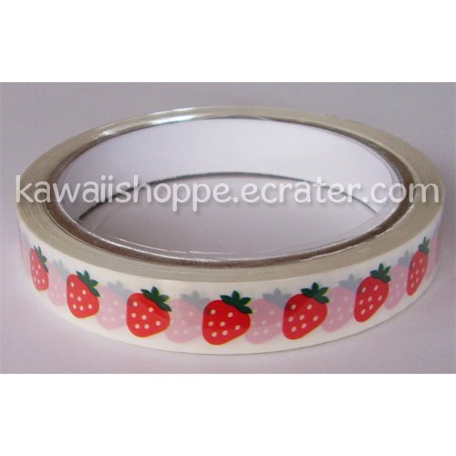 Prime Nakamura *Strawberry* Deco Tape - Kawaii Strawberries, Fruit