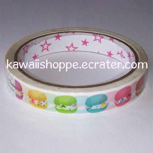 Rainbow Macaron Avec la Creme Deco Tape - Kawaii Puffs, Desserts, sweets