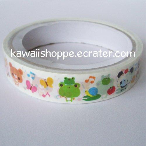Kamio Japan Dreamy Animal Friends Deco Tape