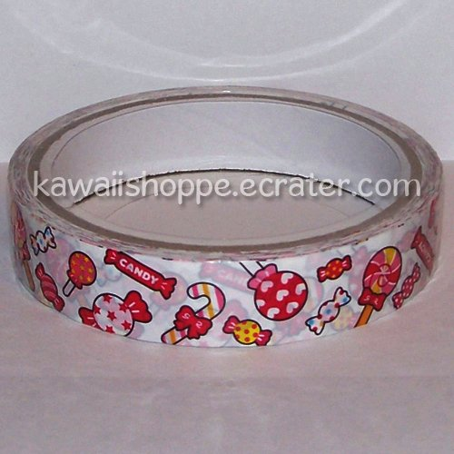Kamio Japan Sweets Candies Lollipops Candy Cane Deco Tape Kawaii