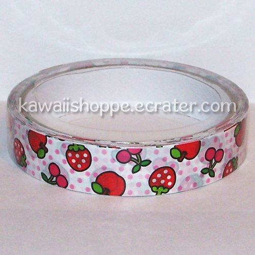 Kamio Japan Strawberries Cherries Apples Deco Tape Kawaii