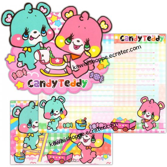 CRUX Candy Teddy Letter Set Kawaii