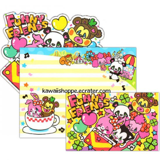 CRUX Funny Friends Letter Set Kawaii