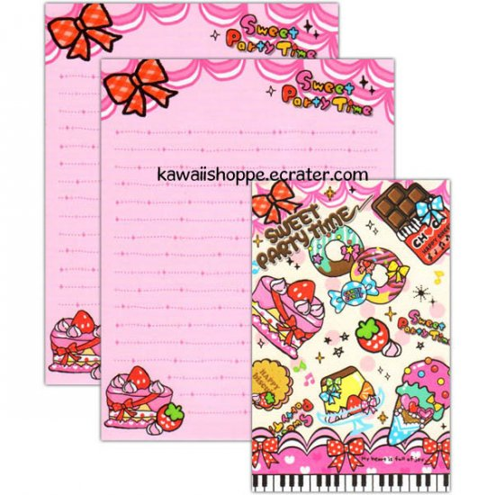 Kamio Japan Sweet Party Time Letter Set Kawaii