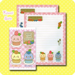 Berry Cake Sisters Letter Set Kawaii