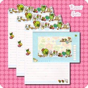 San-X Sabo Kappa Cactus Letter Set Kawaii
