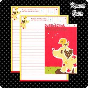 Doggie & Chick Letter Set Kawaii