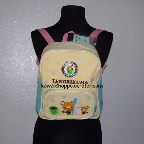NWT Sanrio Tenorikuma Backpack Bag Yellow Blue Pink kawaii