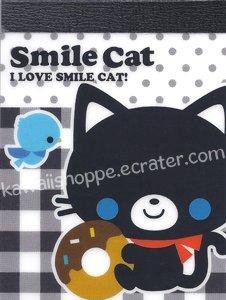 Q-Lia Smile Cat Mini Memo Pad - Kawaii Donuts Doughnuts