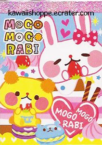 Kamio Japan Mogo Mogo Rabi Mini Memo Pad #2 - Kawaii Strawberry Cake Desserts