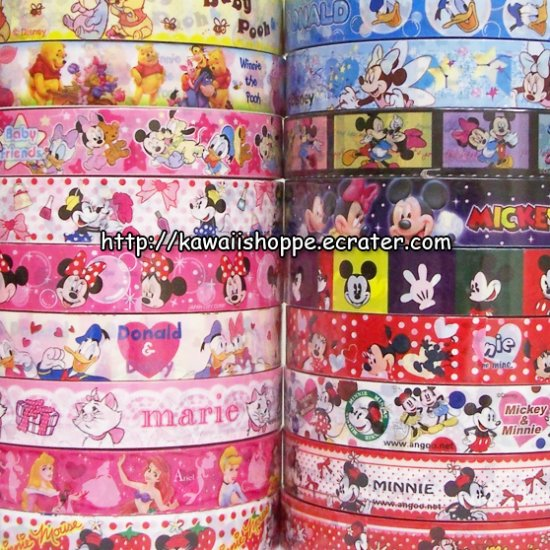 Wholesale Disney Deco Tapes - 18 Medium Sized Rolls Winnie The Pooh Marie Cat