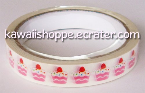Prime Nakamura *Cupcake* Deco Tape Kawaii Strawberries, Sweets, Cupcakes, Desserts