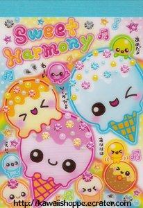 San-X Sweet Harmony Mini Memo Pad - Kawaii Frosting Desserts Sweets Delicious Ice Cream Donuts