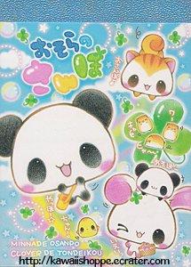 Kamio Japan *Animal Clover* Mini Memo Pad