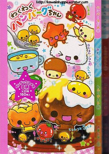 CRUX Loco Moco Memo Pad Kawaii Stationery Food Burger Baked Potato Eggs Rice