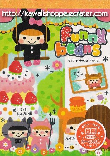Mind Wave Funny Beans Memo Pad Kawaii Stationery