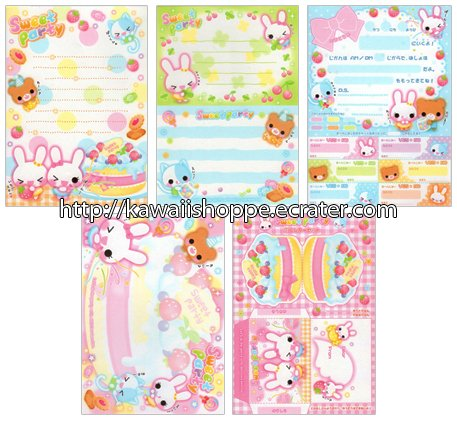 Q-lia Sweet Party Loose Memo Sheets #006 Kawaii