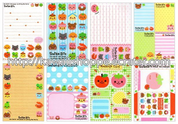Q-lia Smile Bit Loose Memo Sheets #030 Kawaii