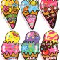Kamio Japan Ice Cream Die Cut Loose Memo Sheets #058 Kawaii