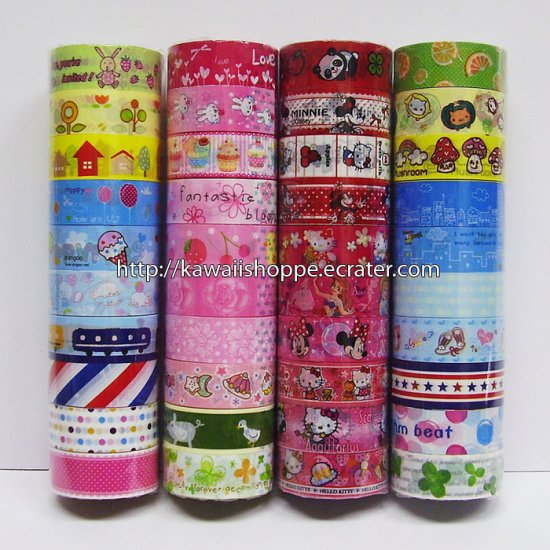 Wholesale Deco Tape 40 Rolls Clovers Flower Mamegoma Baby Boo Desserts