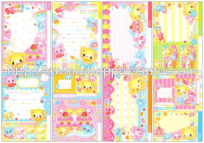Kamio Japan Sweet Cutie Loose Memo Sheets #070 Kawaii