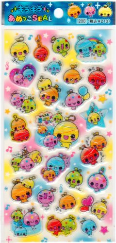 Pool Cool Balloons Sticker Sheet - Kawaii Stickers Rainbow Colorful