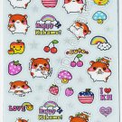 Q-lia Happy Kohamu Sticker Sheet #SE012 - Kawaii Stickers