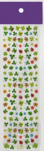 Lucky Clover & Lady Bug Love Stickers Nature Kawaii