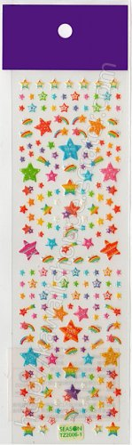 Rainbow Shooting Stars Sticker Sheet - Kawaii Stickers