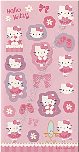 Hello Kitty Ballerina Stickers Sanrio Kawaii