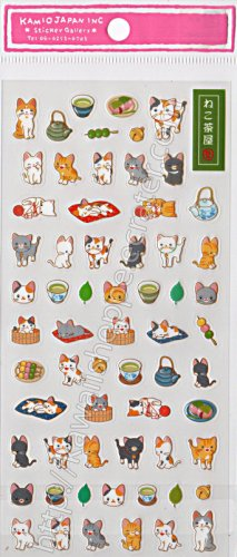 Kamio Japan Neko Kitten Cats Sticker Sheet - Kawaii Stickers Kitty