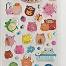 Zoo Family Sticker Sheet - Kawaii Stickers