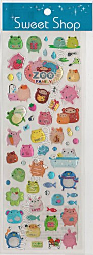 Zoo Family Sticker Sheet - Kawaii Stickers