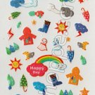 Happy Rainy Day Weather Sticker Sheet - Kawaii Stickers