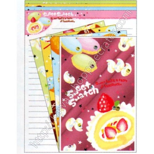 CRUX Sweet Swatch Letter Set kawaii Ice Cream Cheesecake Chocolate Doughnuts Donuts Desserts
