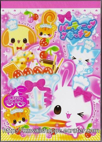 CRUX Usagi Parfait Memo Pad Kawaii Bunny Squirrel Ice Cream Sweets Pudding Strawberries Cherries