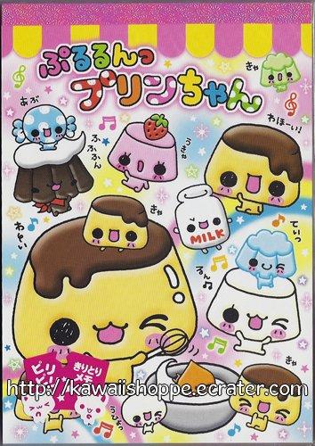 Kamio Japan Pururin Pudding Chan Memo Pad Kawaii Desserts Sweets Cakes
