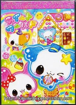 Kamio Japan Gingerbread House Mini Memo Pad Kawaii Candies Sweets Cookies Pudding Chocolate