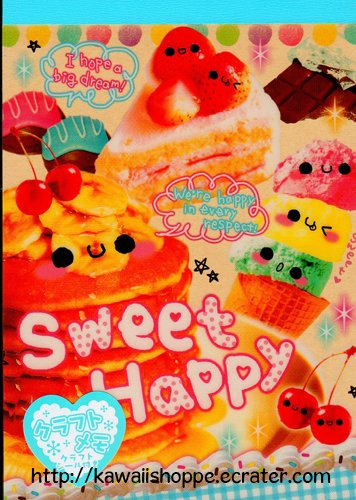 CRUX Sweet Happy Memo Pad Kawaii Food Desserts Sweets Cafe Ice Cream