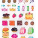 Milk and Cookies Sticker Sheet Kawaii Stickers Sweets Candies Cakes Desserts