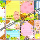 Q-Lia Hello! Friend Loose Memo Sheets Kawaii